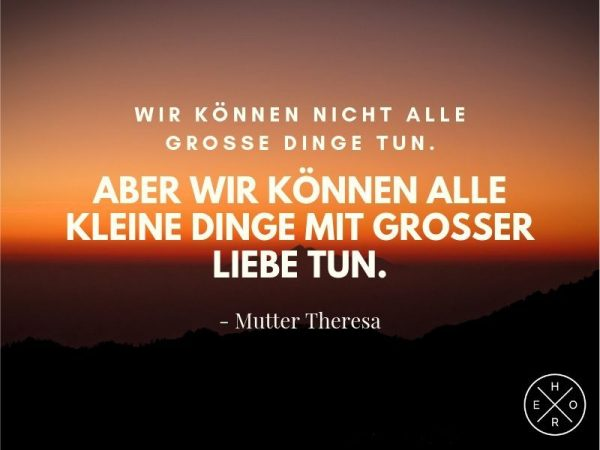 Mutter Theresa Zitate