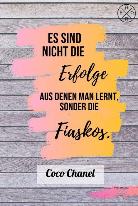 Coco Chanel Lebensweisheit Glück